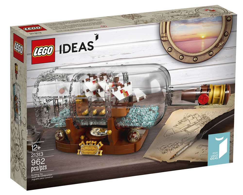 LEGO ideas ship in a bottle review