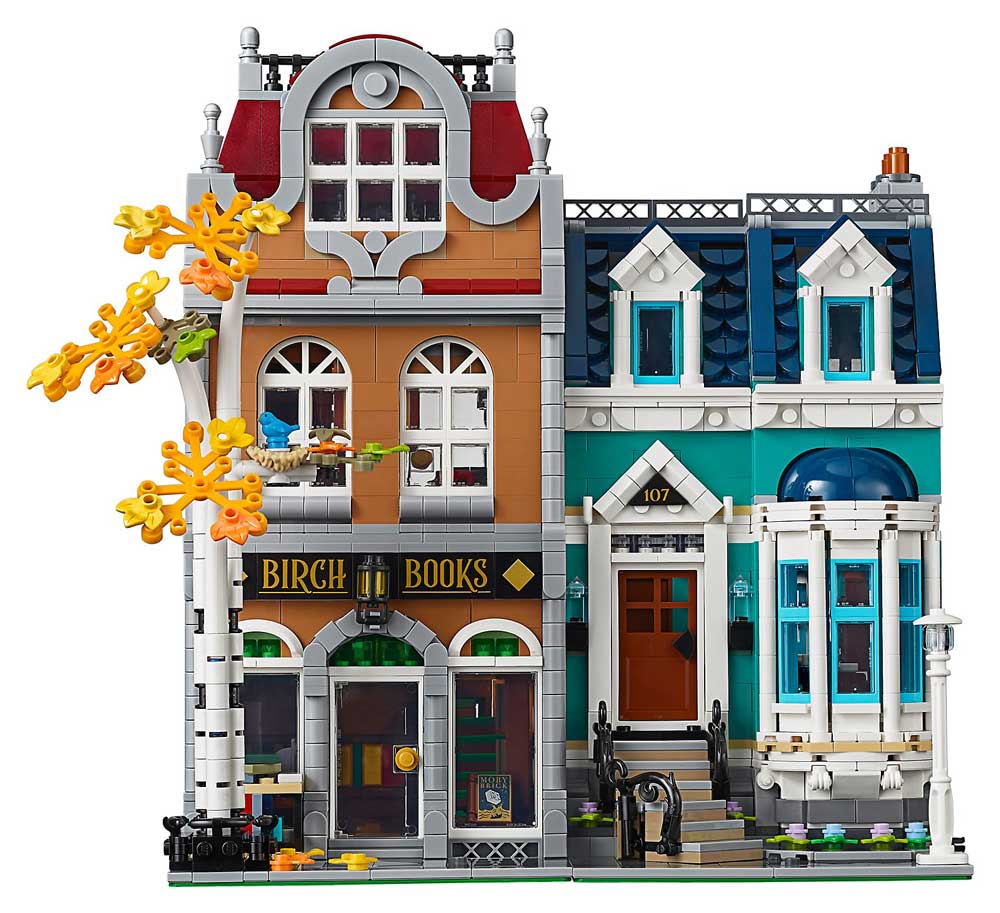 LEGO Creator Expert Bookshop and Townhouse modular - front on